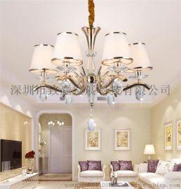 致贏批發直銷LED水晶燈10個頭正白暖白