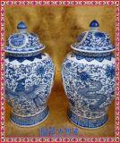 瓷器手工青花瓷 薄胎镂空古典花瓶 装饰工艺品摆件