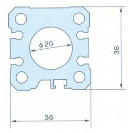 SMC铝合金薄型气缸管(B型)(J004)