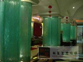 热熔玻璃装饰柱子热弯艺术玻璃订做