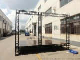 鋼鐵廣告背景噴繪架,舞臺展覽展示婚禮架