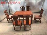 非洲花梨木餐桌七件套