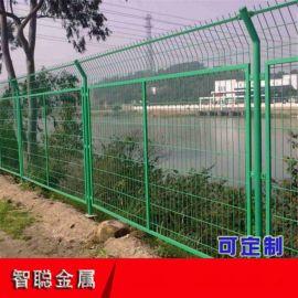 高速公路护栏网 框架护栏网现货 绿色钢丝网隔离栅