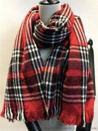 腈綸格紋圍巾