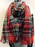 腈纶格纹围巾