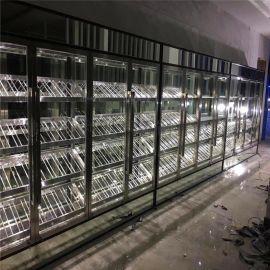 廠家定制不鏽鋼鍍色酒櫃酒店高端紅酒櫃