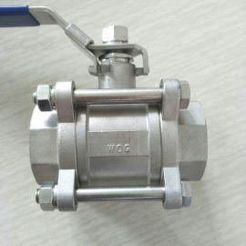 不锈钢三片式球阀 DN40 3PC球阀11/2寸