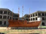大型户外海盗景观木船儿童游乐船