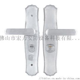 宏力锁厂直销不锈钢材质防盗门执手锁,室内门锁