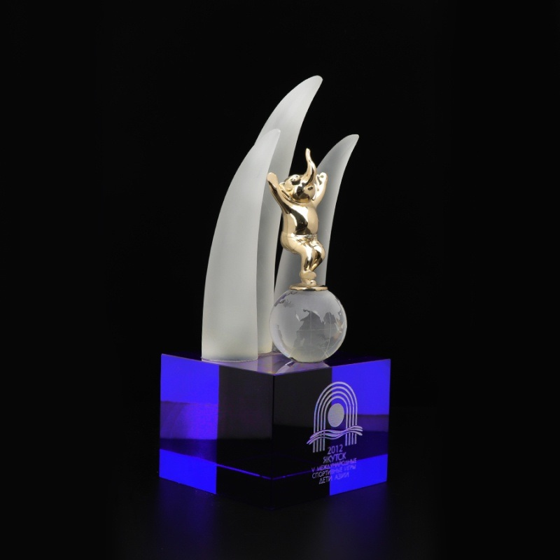 塔模具訂製水晶獎盃 進出口水晶玻璃紀念品