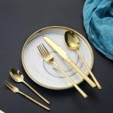 高档酒店镀金西餐餐具 304不锈钢牛排刀叉勺子
