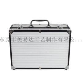 厂家定制铝合金手提工具箱银色化妆箱