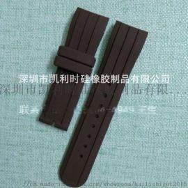 供应平头双色硅胶表带16mm 20mm防水带针扣