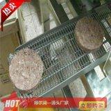 诸城小型牛肉饼加工设备 自动肉饼成型裹糠生产线