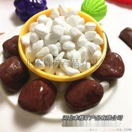 本格厂家供应白色鹅卵石 园艺机制白色鹅卵石