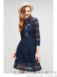 服装店哪里拿货卡利亚里拼接五分袖长裙