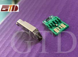 深圳连接器现货USB A公大电流两件式 可定制焊板短路与不短路型)