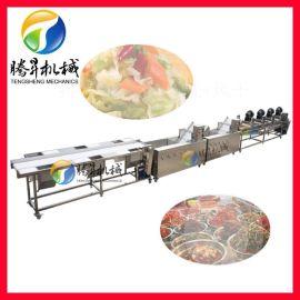 腾昇机械定制百香果清洗风干线 净菜配送生产流水线