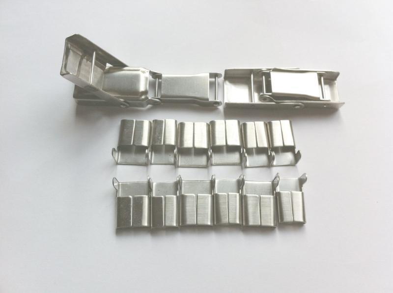 厂家供应各种**不锈钢卡扣 保温卡扣 保温钢扣 扎带扣 钢带扣
