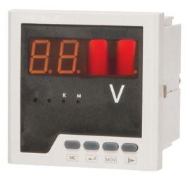 PD194U三相電壓表 數顯式電壓表 數碼管顯示白殼