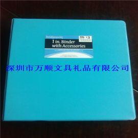 色快劳夹,丝印纸板文件夹,A4文件管理夹4.8cm宽