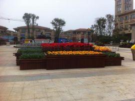 KT-A03户外花箱 园林景区木制花盆 广场组合花盆