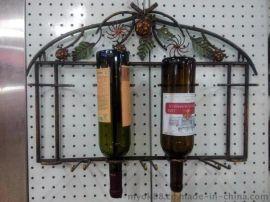 特价美式乡村壁挂铁艺葡萄酒架 红酒架创意