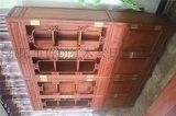 明清仿古家具榆木中式全实木珠宝柜书柜书架组合书橱带门储物柜
