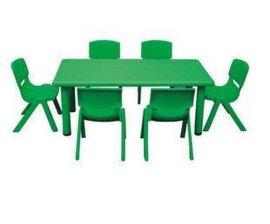 广西南宁鹰族幼儿园桌子长方形课桌手工桌子绘画画桌塑料儿童小桌椅哪里买