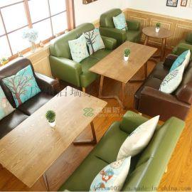 特价欧式小户型布艺单人双人沙发酒店咖啡网吧电脑实木卡座沙发椅
