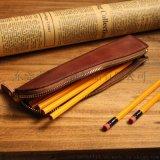 厂家直销原创日韩真皮简约小笔袋复古个性铅笔盒创意