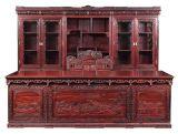 供应江苏苏州帝豪誉福红木家具 2.8米大班台+三组合书柜 厂家直销 匠人精神之乡出品 新古典家具