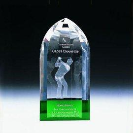 高尔夫水晶奖座