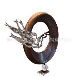 景观造型不锈钢件定制 佛山不锈钢异型金属雕塑摆件品牌工厂