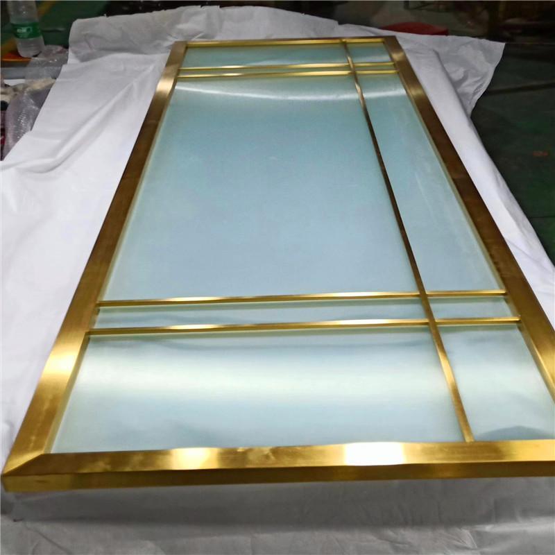 不鏽鋼浴室折屏屏風加工定製酒店會所高端鈦金花格屏風不鏽鋼中式