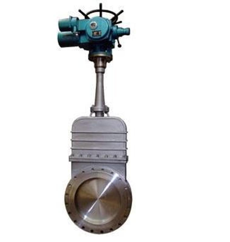 铸钢不锈钢PZ973F电动刀型闸阀DN80 100 125 150 200 250 300