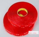 供应3M4905  3M4910 VHB透明双面胶带  红膜无痕泡棉双面胶 丙烯酸泡棉双面胶3M4905 3M4910 可模切成任意形状规格