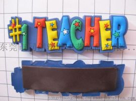 PVC软胶蝴蝶冰箱贴 PVC字母早教磁性冰箱贴