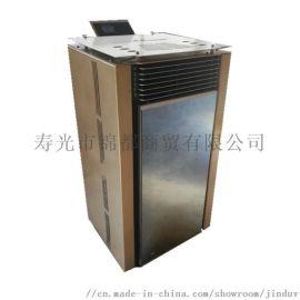 山东潍坊生物质壁炉,生物质暖风壁炉,燃木颗粒热风炉