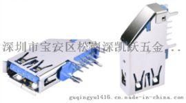 A型側插母座 3.0 USB 9P卷邊兩個魚叉腳 DIP插座