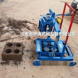 甲庚220v小型移动免烧砖机 下蛋空心砖机设备