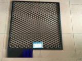 定做室内天花2.0厚铝板拉伸网 白色菱形孔铝板网