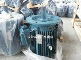 廠家直銷微型防水電機 帶皮帶輪水塔電機