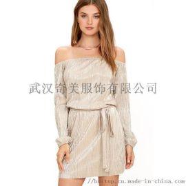 埃文19年夏季裹胸收腰气质连衣裙
