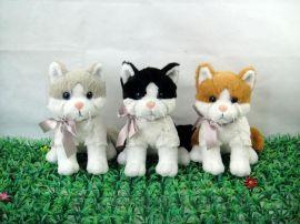 自设计和生产柔软的毛绒玩具猫