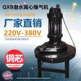 廠家直銷潛水離心式曝氣機 魚塘增氧曝氣衝氧污水處理設備 QXB0.75-32