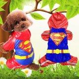 亚马逊热卖宠物衣服 超人狗狗雨衣 春夏季中小型犬雨衣 宠物用品