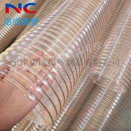 水泥厂专用吸尘管耐磨TPU透明软管耐老化耐腐蚀PU钢丝管