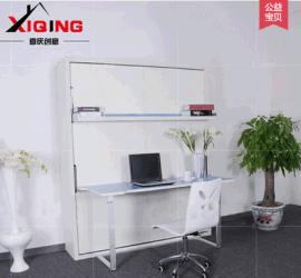 竖翻工作桌台书桌 隐形床多功能壁床折叠床家具