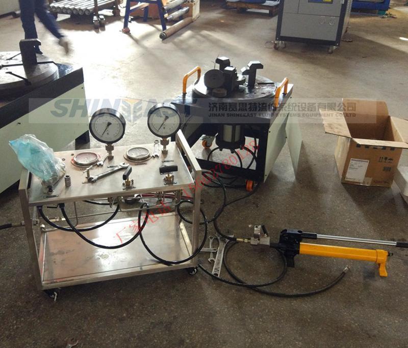 厂家供应 安全阀校验台 螺纹法兰安全阀压力校验台出厂调校设备